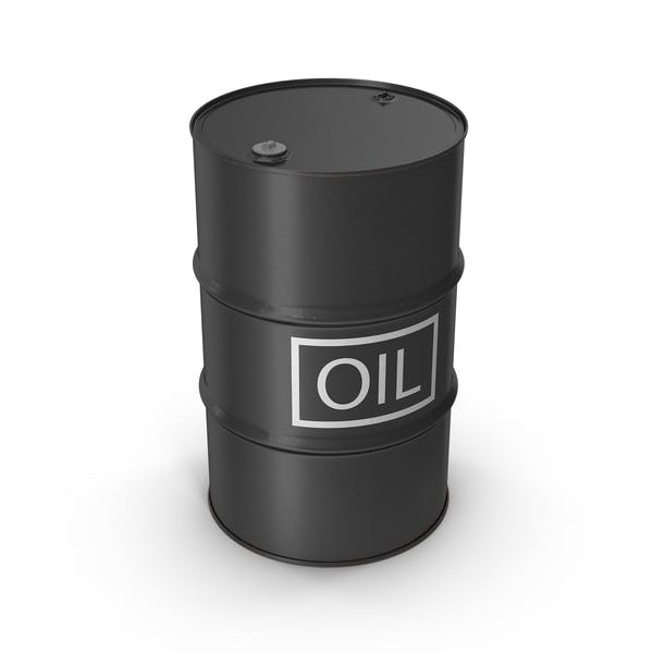 Oil Barrel with Label