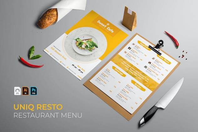 Uniq | Restaurant Menu