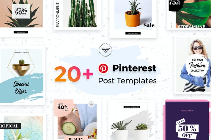 Thumbnail for Pinterest Social Media Templates