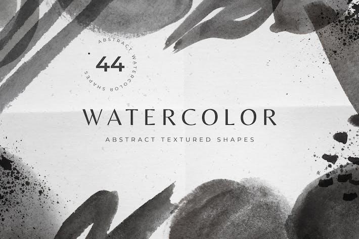 Thumbnail for Formas de acuarela en blanco y negro