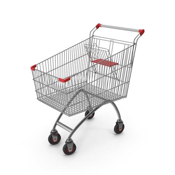 Supermarket Сart with Red Plastic