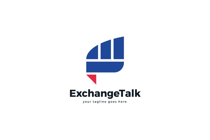 Cover Image For Exchange Talk E Letter Logo Template