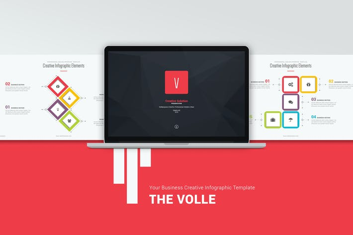 Cover Image For Volle Creative & Colored Template