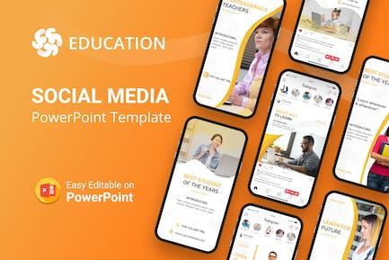Education Social Media PowerPoint Template