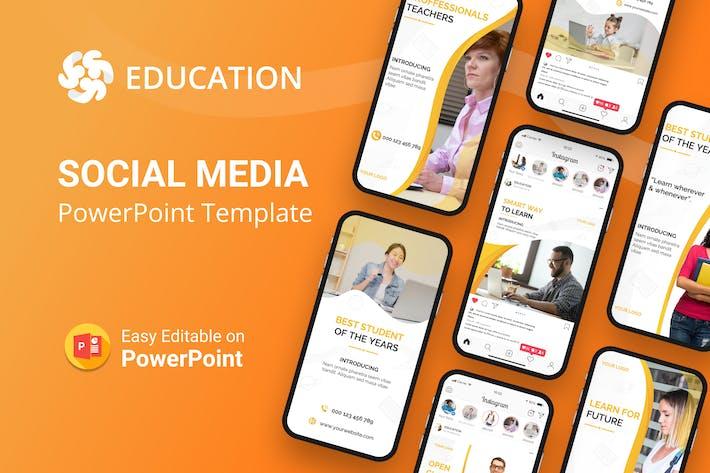 Thumbnail for Bildung Soziale Medien PowerPoint Vorlage