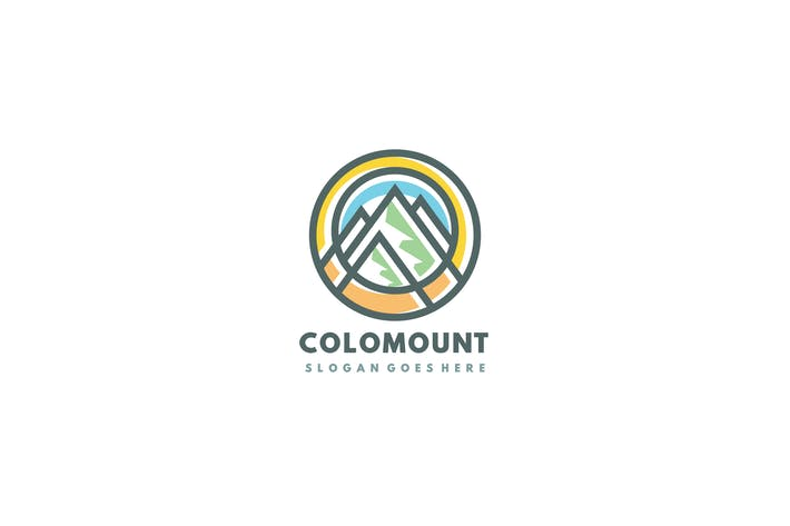 Colorful Mountains Logo