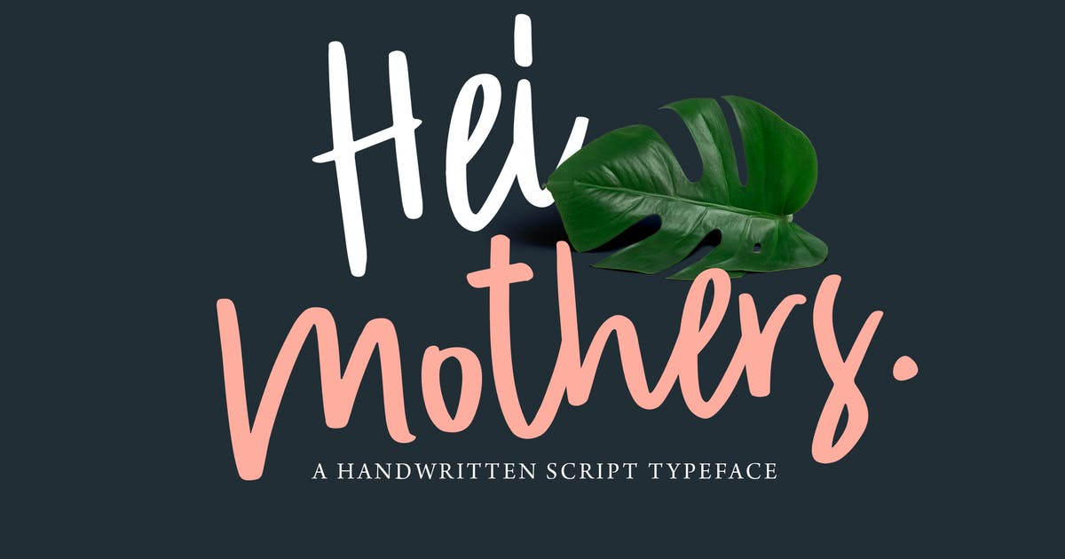 Download HeiMothers Typeface by adilbudianto