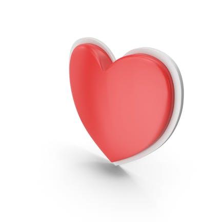 Сердце Красный Белый