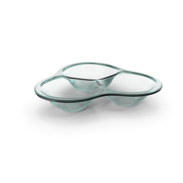 Thumbnail for Glass Compartment Round Bowl
