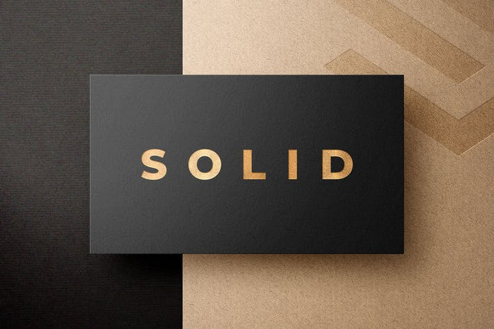 Thumbnail for Metallic Foil Logo Mockups