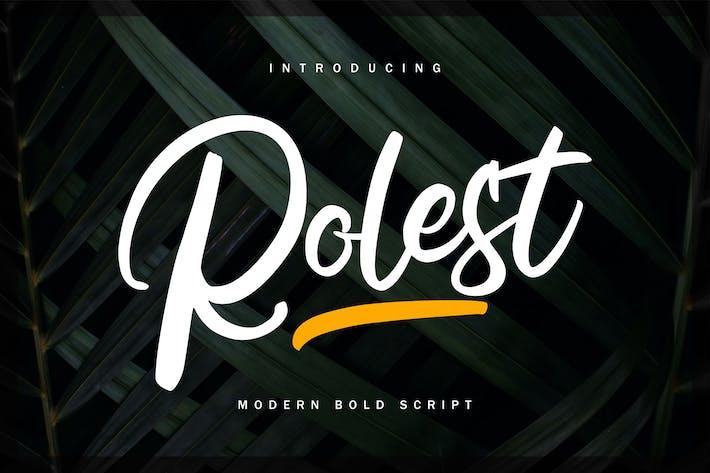 Thumbnail for Rolest | Modern Bold Script Font