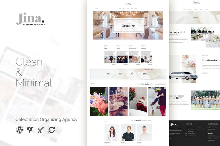Thumbnail for Jina - Celebration Agency WordPress Theme