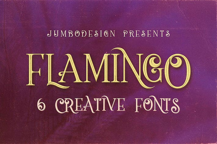 Thumbnail for Flamingo - Fuente de estilo Vintage