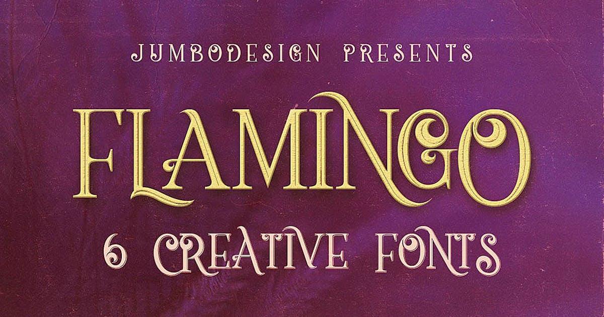 Flamingo - Vintage Style Font by cruzine