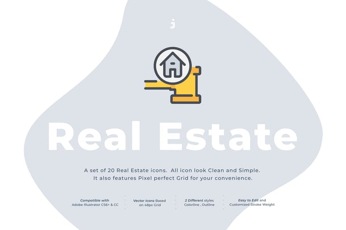 Thumbnail for 20 Real Estate icon set