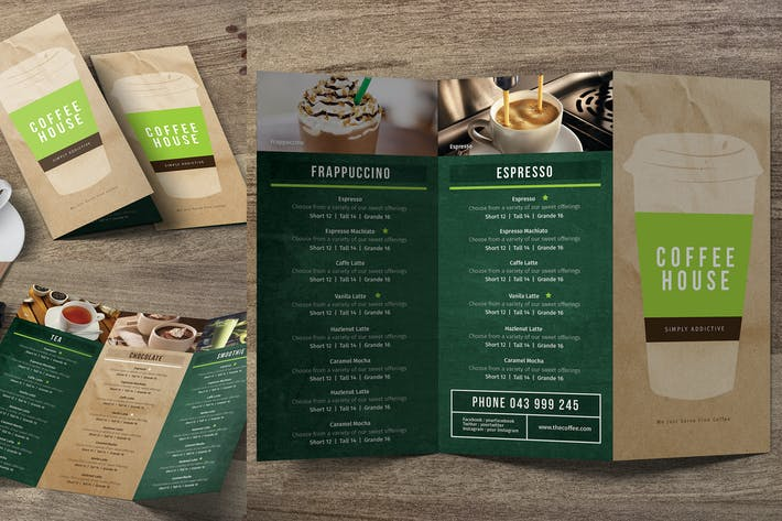Cover Image For Coffee Trifold Menu