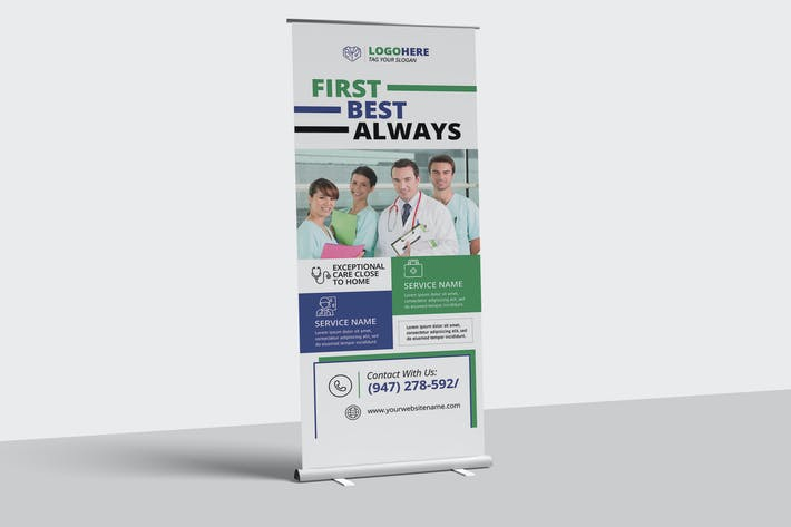 Thumbnail for Medical Roll-up Banner