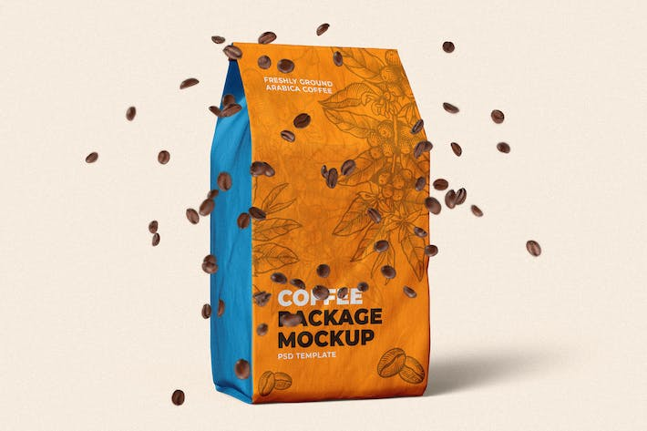 Thumbnail for Coffee Bag Packaging Mock-Up Template