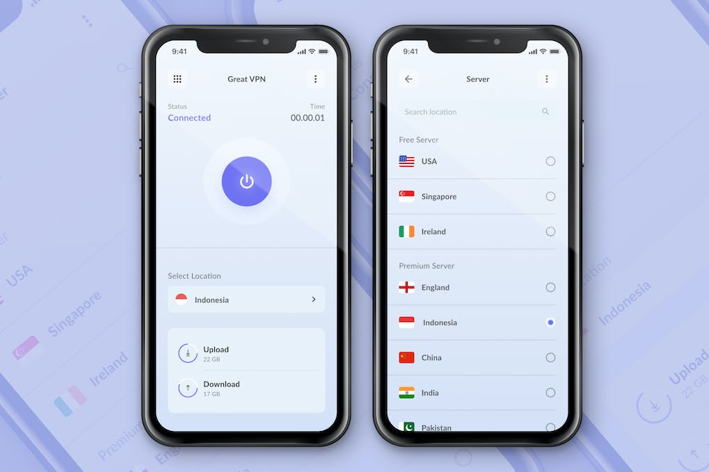 VPN App Screen Concept in bad ux websites