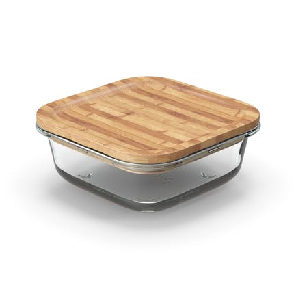 Glass Storage Container with Bamboo Lid 600ml