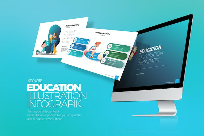 Thumbnail for Education Infograpik Keynote Templates
