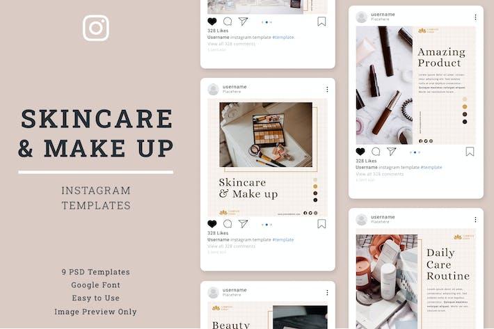 Thumbnail for Skin Care Instagram Post Template