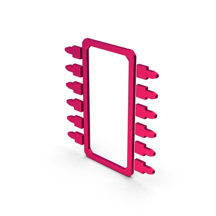 Symbol Microchip Metallic