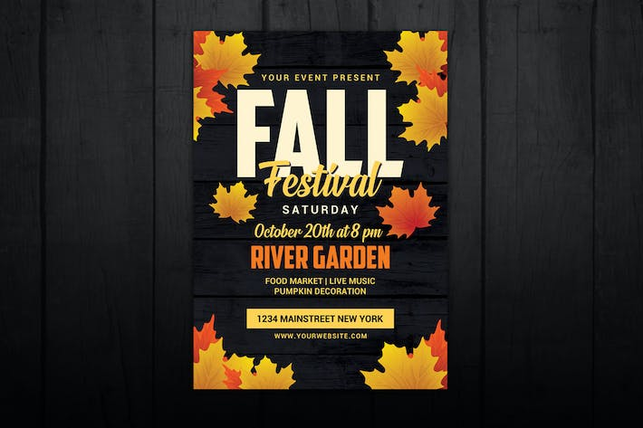 Thumbnail for Autumn Fall Festival Flyer