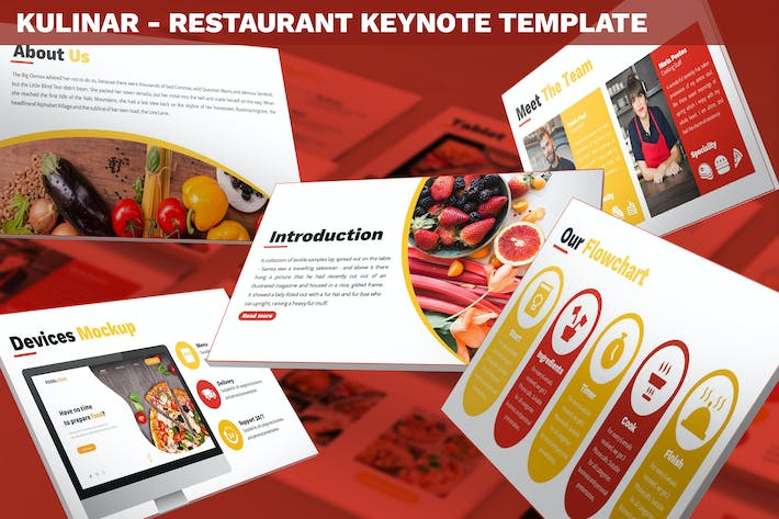 Thumbnail for Kulinar - Restaurant Keynote Template