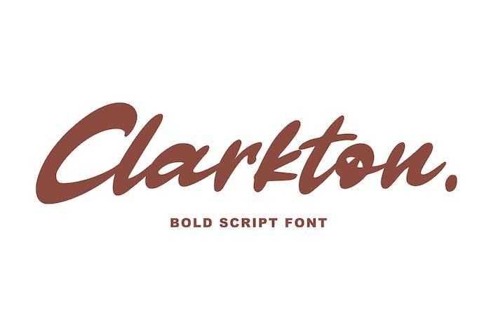 Thumbnail for Clarkton - Bold Script Font