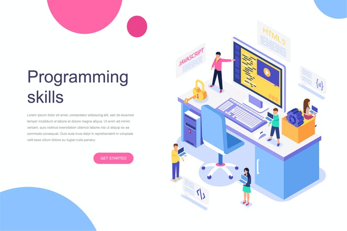 Thumbnail for Programming Skills Isometric Concept