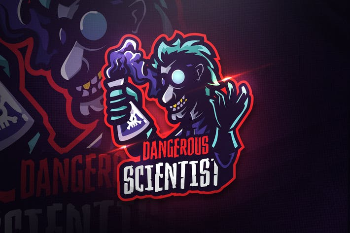 Thumbnail for Dangerous Scientist - Mascot & Esport Logo