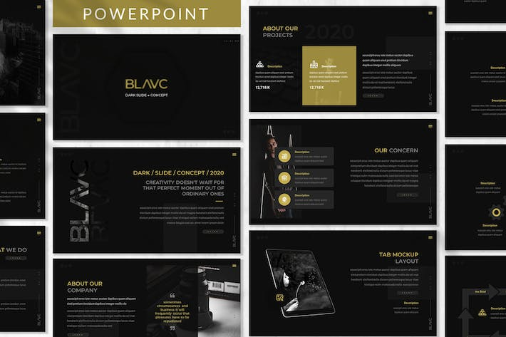 Thumbnail for Blavc - Business Powerpoint Template