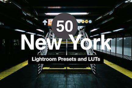 50 Ajustes preestablecidos para móviles y escritorios Lightroom de Nueva York
