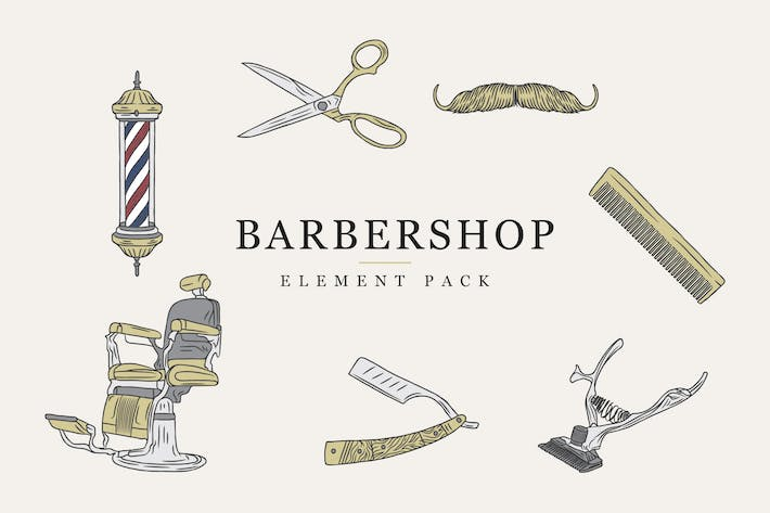 Thumbnail for Barbershop Set - Vector