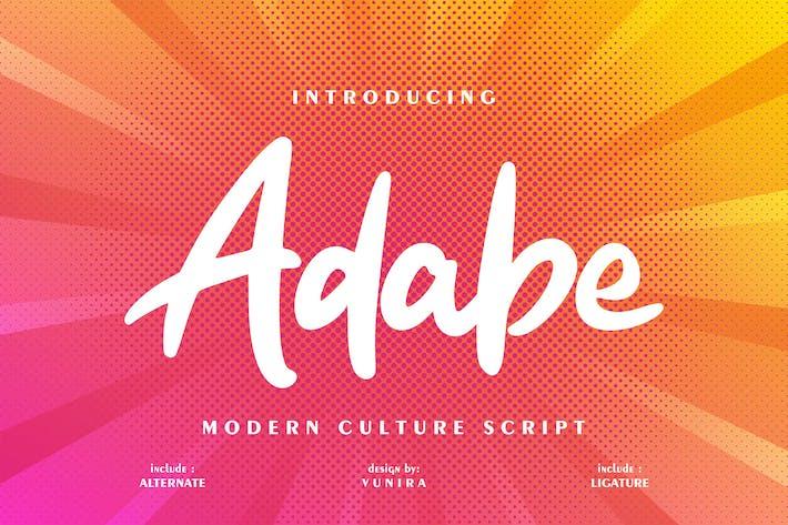 Thumbnail for Adabe | Fuente de escritura de cultura moderna