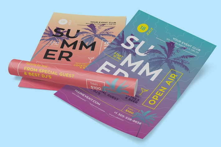 Thumbnail for Summer Flyer/Poster Template