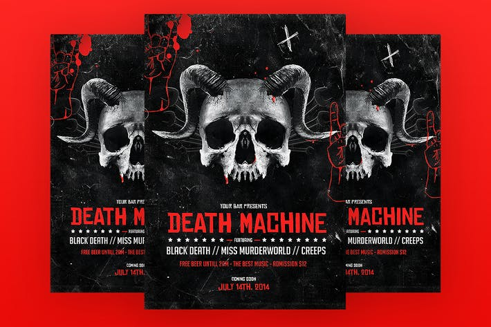 Thumbnail for Death Machine Flyer Template