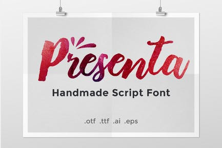 Presenta – Handmade Script Font