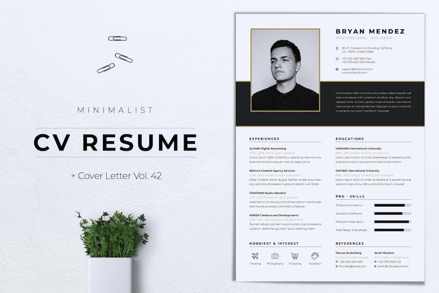 Minimalist CV Resume Vol.42