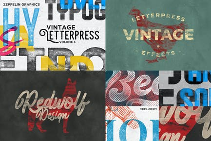 Letterpress & Screenprint Texture Effects Vol.3