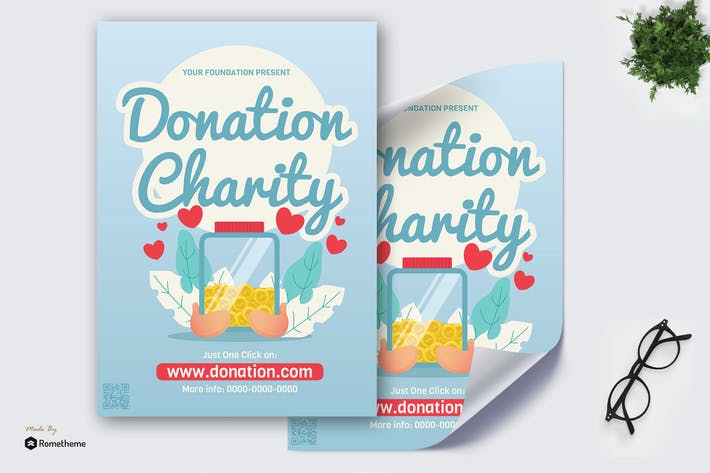 Cover Image For Donation Charity - Creative Poster GR