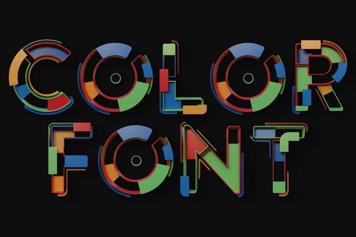 Geometry 1 - Color SVG Font