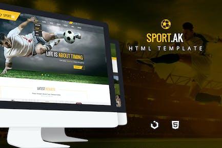 Sport.AK — Soccer Club and Sport HTML Template