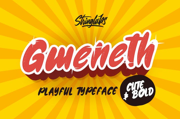 Thumbnail for Gweneth - Playful Children Typeface
