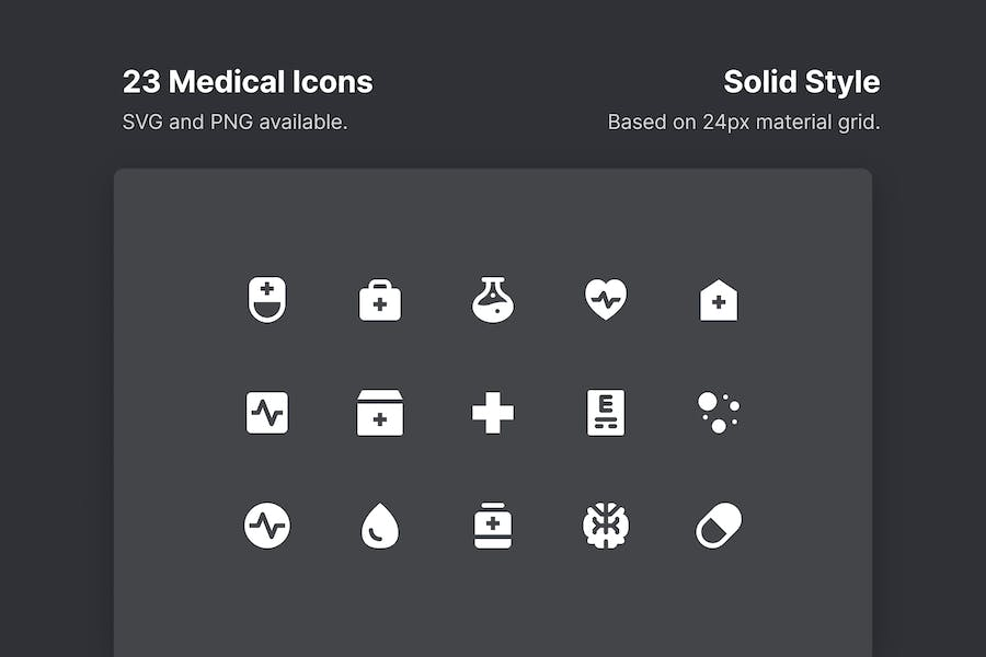 Medical Icons - Solid Style