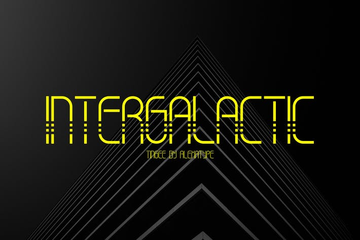 Thumbnail for TINGEE - Intergalactic Font