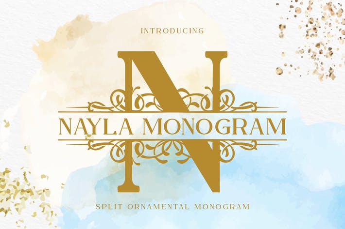 Thumbnail for Nayla Split Monogram Font