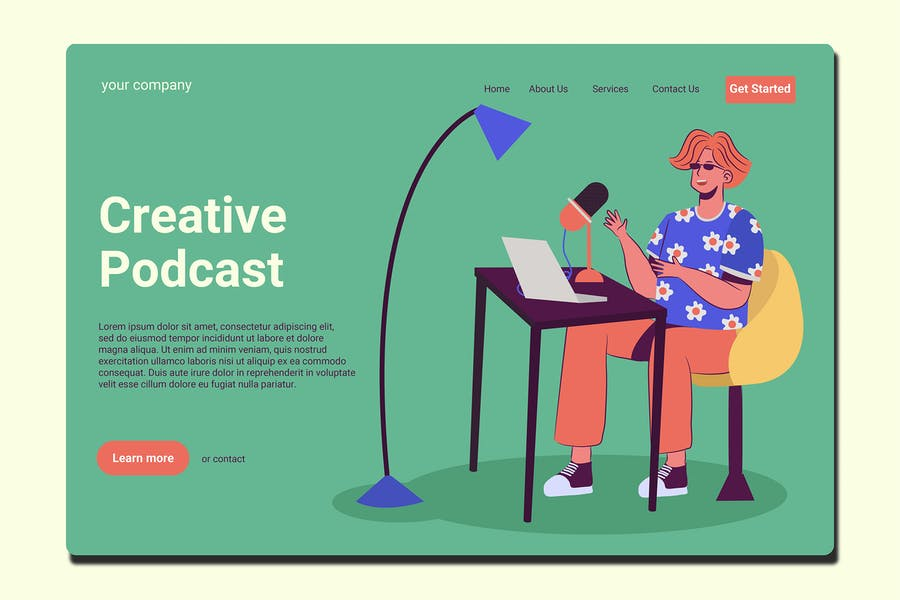 Content Creator - Landing Page