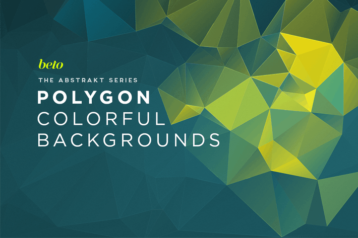 Cover Image For Polygon Abstract Backgrounds V3